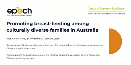 Promoting breastfeeding among culturally diverse families in Australia tickets