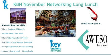 KBN November Networking Long Lunch tickets
