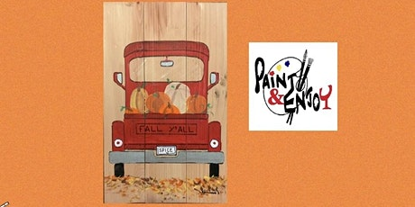 """Paint and Enjoy at The Hub & Corner Cafe  """"Red Truck"""" on Wood tickets"""