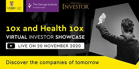 UNSW 10x  and Health 10x Virtual Investor Showcase tickets