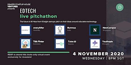 Edtech LIVE Pitchathon by Draper Startup House Ventures