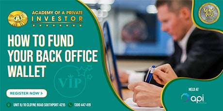 How To FUND Your Back Office Wallet WORKSHOP tickets