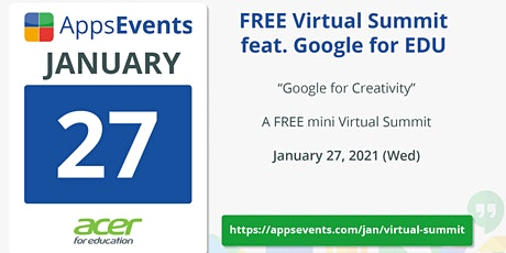 Virtual Google EDU Summit - January 2021 tickets
