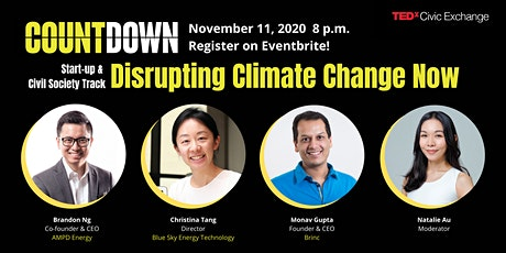 TEDxCivicExchange Start-up & Civil Society: Disrupting Climate Change Now tickets
