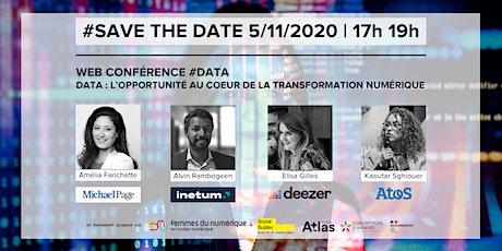 Web conférence - Data : l'opportunité au cœur de la transfo numérique billets