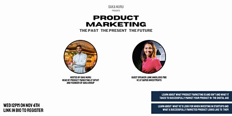 PRODUCT MARKETING: The Past, The Present and The Future tickets