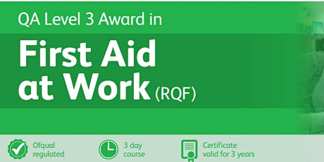 QA First aid at Work Level 3 tickets