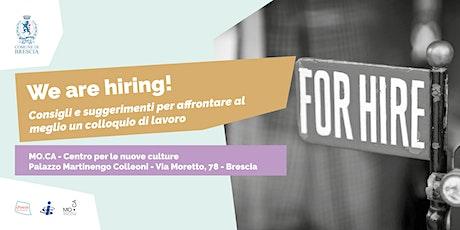 We are hiring! biglietti