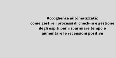 WEBINAR : Accoglienza automatizzata biglietti