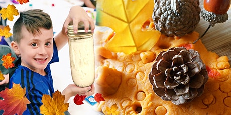 Thanksgiving Fall Kids Lab:Pumpkin Playdough, Leaves & Butter @4PM (Ages5+) tickets