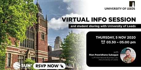 The University of Leeds - Online Info Session 05 November 2020 tickets