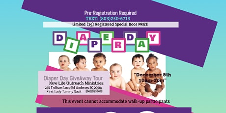Drive-Up Diaper Distribution~ Andrews SC tickets