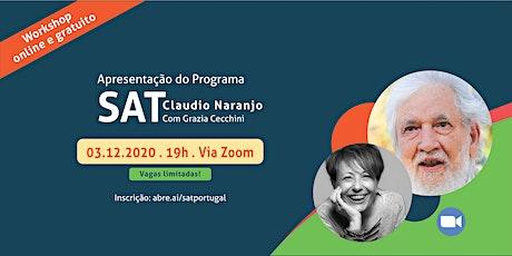 Workshop online de apresentação do Programa Sat de Claudio Naranjo ingressos