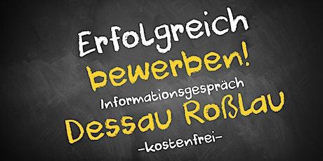 Bewerbungscoaching Online kostenfrei - Infos - AVGS  Dessau Roßlau Tickets