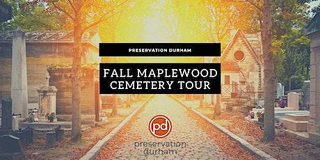Fall Halloween Maplewood Cemetery Historic Walks tickets
