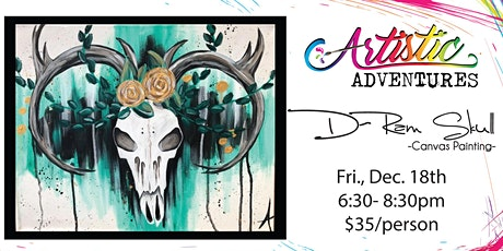 D-Ram Skull- Canvas Painting tickets