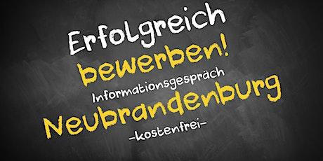 Bewerbungscoaching Online kostenfrei - Infos - AVGS  Neubrandenburg Tickets