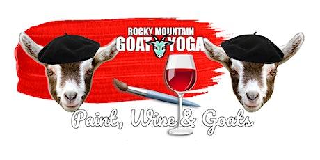 Paint, Wine & Goats - November 21st (RMGY Studio) tickets