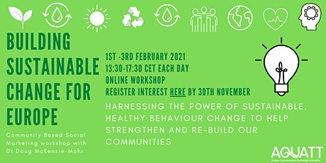 Building Sustainable Change For Europe: Workshop with Doug McKenzie-Mohr tickets