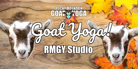 Goat Yoga - November 22nd (RMGY Studio) tickets