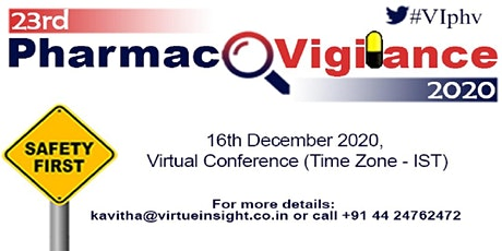 23rd Pharmacovigilance 2020 (Virtual Conference) tickets