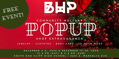 COMMUNITY HOLIDAY POP UP SHOP EXTRAVAGANZA tickets