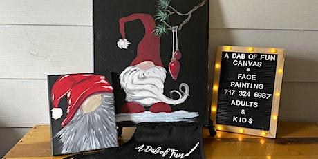 Paint Santa Gnomes Adult & child  + 2 drinks tickets