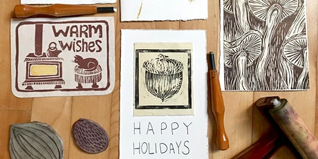 Sip + Share - Holiday Cards Block Printing tickets
