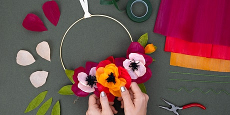 Paper Flower Fall Wreaths WebJam tickets