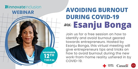 Avoiding Burnout During COVID-19 with Esanju Bonga tickets