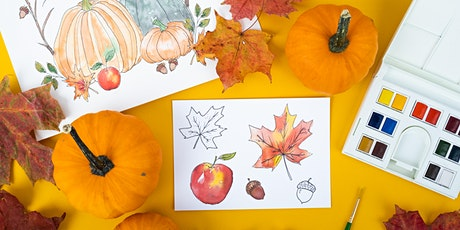 Fall Illustration and Watercoloring WebJam 1 + 2 tickets