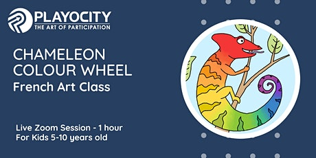 Chameleon Colour Wheel - French Art Class - Live on Zoom - 5-10 yrs old tickets