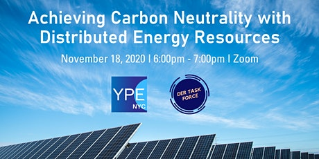 Virtual Event-Achieving Carbon Neutrality with Distributed Energy Resources tickets
