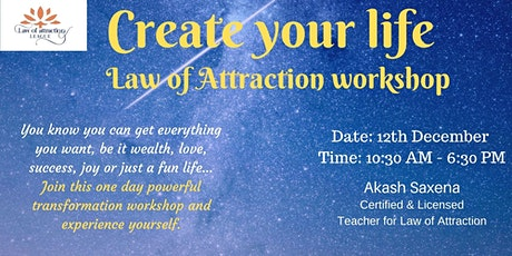 You create your own life transformational workshop tickets