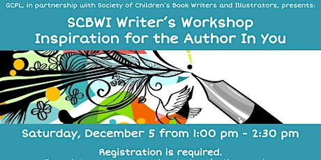 SCBWI Writer's Workshop Inspiration for the Author In You tickets