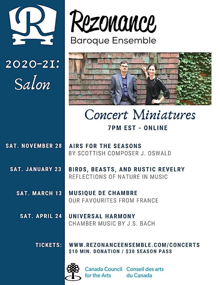Rezonance Baroque Ensemble: Musique de Chambre image