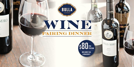 Exclusive Wine Pairing Dinner @ Bulla Atlanta tickets