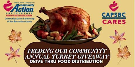 Feeding Our Community Annual Turkey Giveaway Drive-Thru Food Distribution tickets