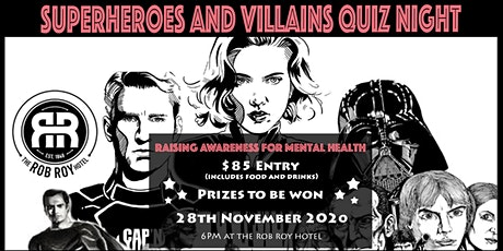 Superheroes and Villains Quiz Night tickets
