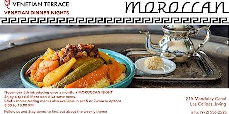 Venetian Terrace Moroccan Dinner Nights tickets