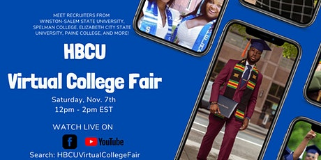 HBCU Virtual College Fair Pt. 2 via Facebook and YouTube Live! tickets