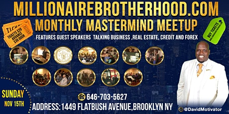 MillionaireBrotherhood.com Monthly Mastermind Meetup tickets