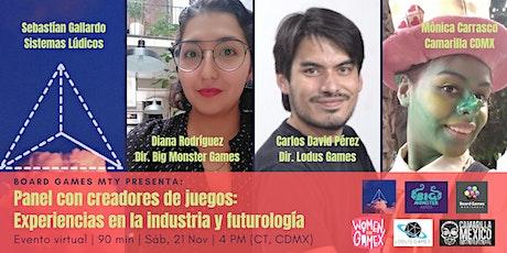 Creadores de juegos: Experiencias en la industria y futurología entradas