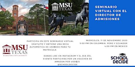 Estudia en USA con Midwestern State University en Texas, Becas & Admisiones entradas