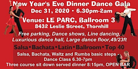 New Year's Eve Salsa, Bachata, Latin and Ballroom Dinner Dance Gala, Dec 31 tickets