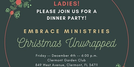 """Christmas Unwrapped"" Dinner Party tickets"
