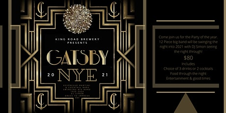Gatsby NYE 2021@ King Road Brewing Co tickets