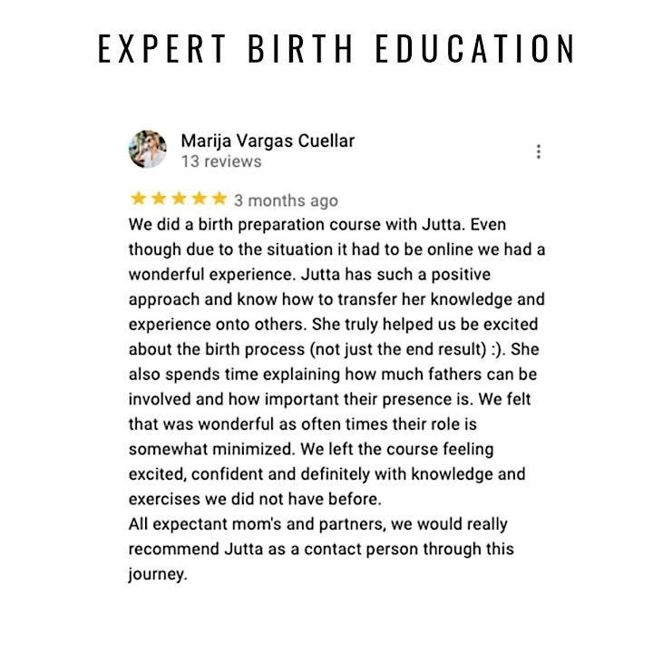 "Birth preparation ""Happy Birthing Days"" (English)  (ONLINE/LIVE) image"
