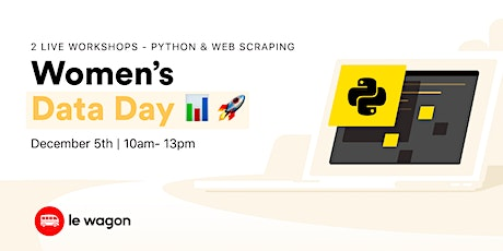 [Webinar] Women's Data Day - Data Analytics & Web Scraping tickets