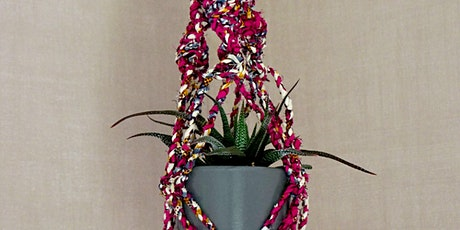 Make a Plant Hanger from Fabric Scrap Twine tickets